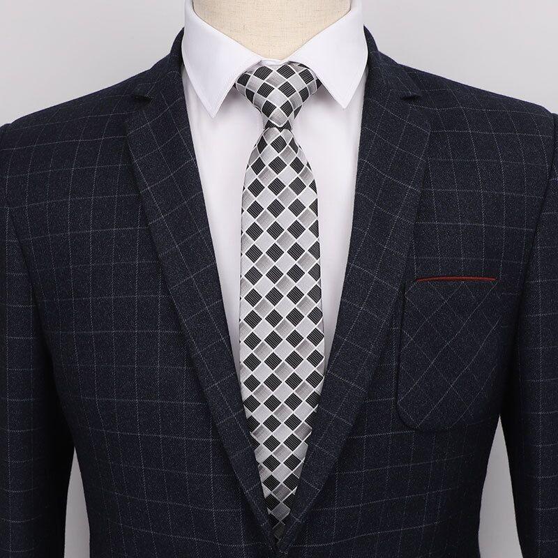 Men Ties 2019 Fashion 7cm Necktie For Men Stripe Gravata Korean Style Wedding Tie