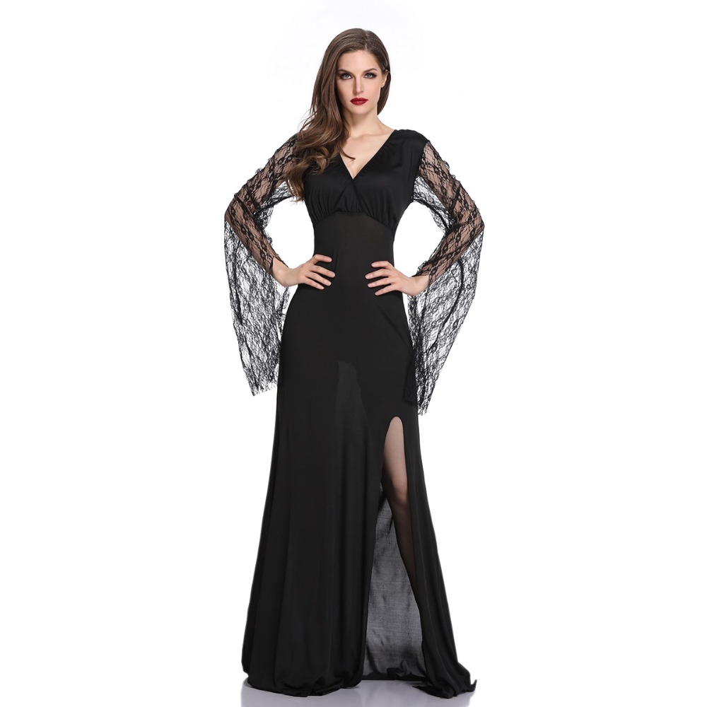 Lace Long Sleeve Women Day of The Dead Cosplay women Slim Ghost Bride Costumes Adult Ghostly Bride Cosplay Costume for Halloween