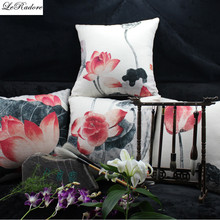 2017 New Seat Bolster cover Chinese Style Bolster Chinese Lotus Patio Bolster Sofa Chair for Outdoor Desk Chair