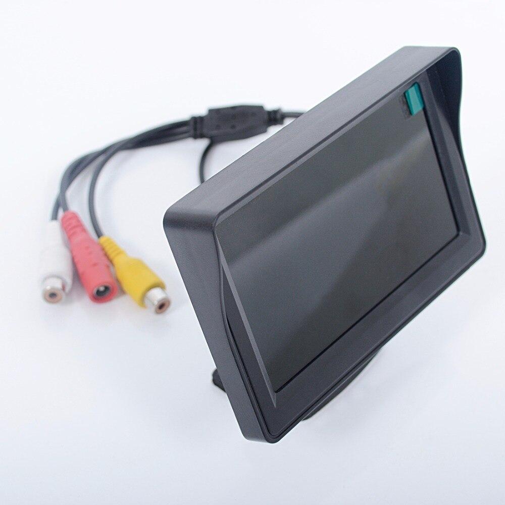 """Автомобильный монитор 4,"""" экран для камеры заднего вида TFT lcd дисплей HD цифровой цветной 4,3 дюймов PAL/NTSC"""
