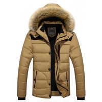 ブランド冬のジャケットの男性 2019 新パーカーコート男性ダウン保温ファッションプラスアジアサイズ M-4XL 5XL 6XL
