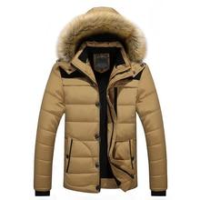 FIT-25 'C marca invierno chaqueta hombres 2018 nueva Parka hombres abajo mantenga moda M-4XL 5XL 6XL