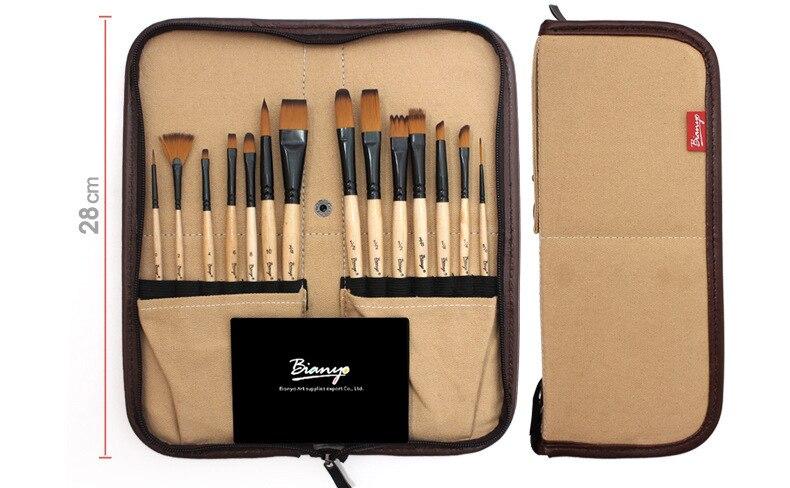 aquarela escovas com caixa de lápis para