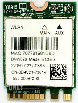 Marca DW1820 D4V21 802.11ac Wifi Bluetooth 4,1 de 867Mbps de banda Dual M2 NGFF 2,4 Ghz 5Ghz Wi-Fi inalámbrico Mini tarjeta Wlan