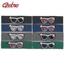 39edcb94e Geebro الراين النظارات الشمسية للأطفال العصابة لطيف رباطات للبنات القطن  تمتد رئيس شقة الفرقة للأطفال(