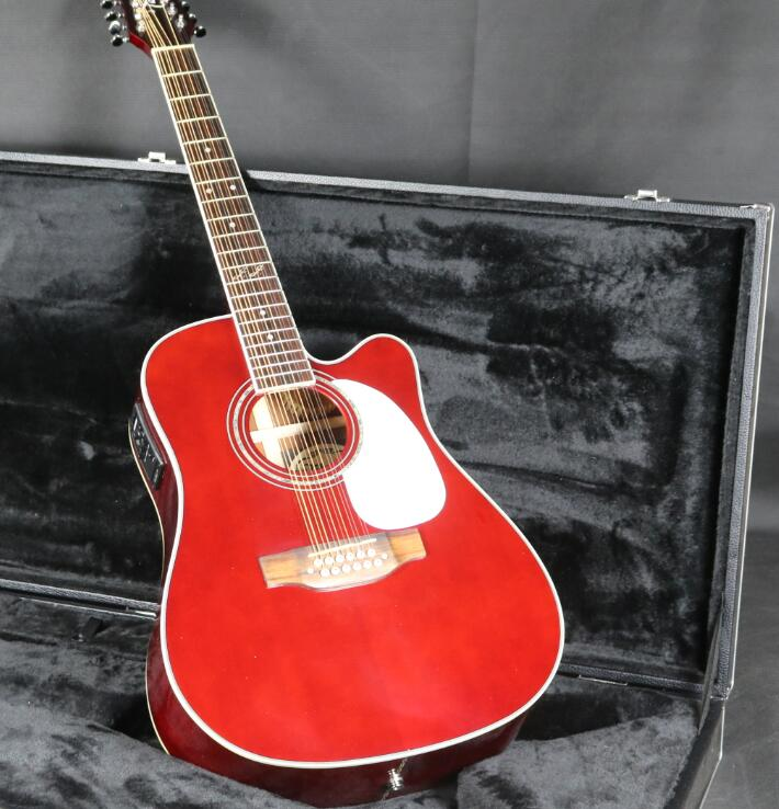 41 ''Takemine 12 cordes guitare acoustique électrique Fishman EQ haut rigide manche en acajou