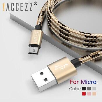 ! Câble Micro USB accézz charge rapide pour Xiaomi Redmi 4X 4A pour Samsung S9 S10 pour Huawei Smartphone câble de données de chargeur Android