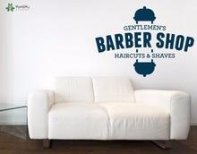 YOYOYU Wall Decal Gentlemens Barbershop Vinyl Stickers Haircut Spa Window Removable Interior Decor Art Design Mural SY889