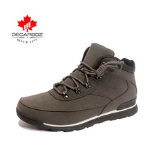 DECARSDZ Brand 2018 Rome Boots Men Warm Winter Snow Boots Waterproof Lace-Up Motorcycle Boots Handmade Shoes Casual shoes
