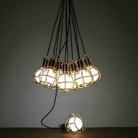 American Vintage Edison Lamps Chrome Bulb Holder Dining Room Mahjong Creative Lighting Small Lift Cages Bulb Holders