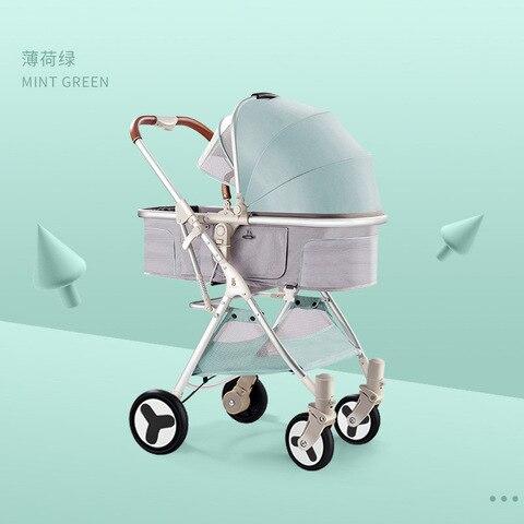 alta paisagem carrinho de bebe pode se sentar e deitar leve e facil de dobrar