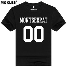 MONTSERRAT t shirt diy free custom made name number msr t shirt nation flag ms spanish
