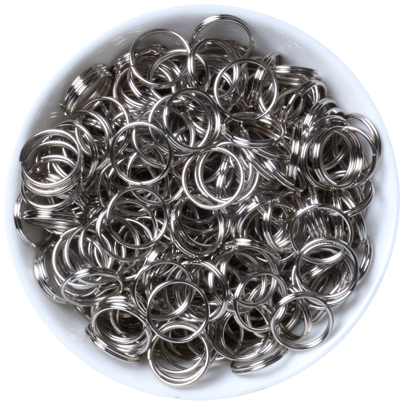 4/5/6/8/10mm 200pcs Stainless Steel Rhodium Metal Double Jump Rings For Jewelry Making DIY Accessories Bracelet Finding