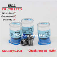 11pcs ER11 high precision 0.008mm Spring Collet chuck For CNC Engraving Milling