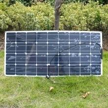 Моно кремния гибкие 20 В 100 Вт Панели Солнечные для автодомов лодки автомобили на крыше 12 В Батарея Солнечный Зарядное устройство 36 шт. клетки 100 Вт