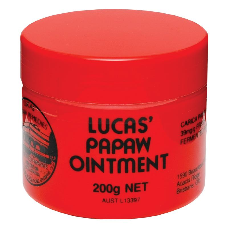 200g LUCAS PAPAW Ointment Skin Care, topical application for boils, burns, chafings, open wounds, insect bites and nappy rash sumifun 100% original 19 4g red white tiger balm ointment thailand painkiller ointment muscle pain relief ointment soothe itch