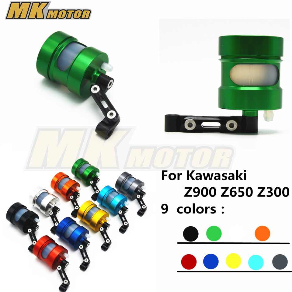 NEW Cnc Motorcycle Brake Fluid Reservoir Clutch Tank Cylinder Master Oil Cup Case For Kawasaki Z900 Z650 Z300 ck cattle king universal brake clutch tank oil fluid master cylinder reservoir for suzuki gsf 650 1200 1250 gsf650 gsf1200 sv650