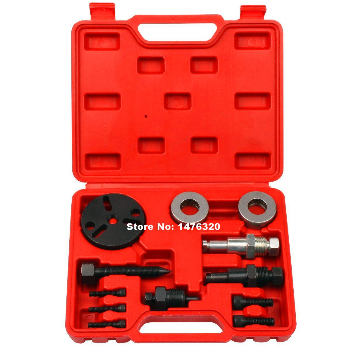 Automotive A/C Compressor Clutch Removal Puller Car Air Conditioning Pressure Clutch Remover Repair Tool Kit AT2045 harbll r134a universal automotive air conditioning compressor disassembly tool wrench car air conditioning repair tools kit