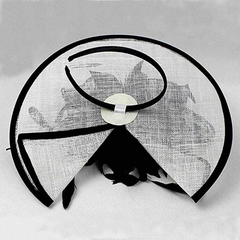 FGHGF женские белые черные Sinamay восхитительный головной убор дамы перо Цветочная вуаль Дерби Свадебные шляпы Коктейльная гонка головной убор для вечеринок