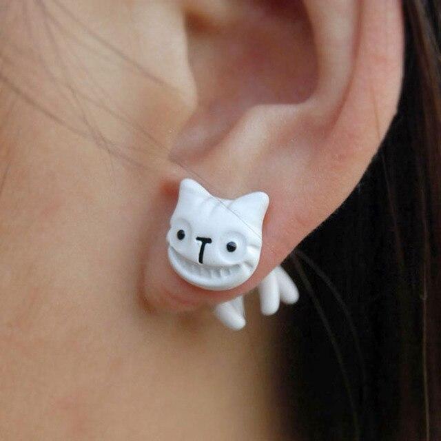 Сережки в форме улыбающейся кошки в ассортименте 1