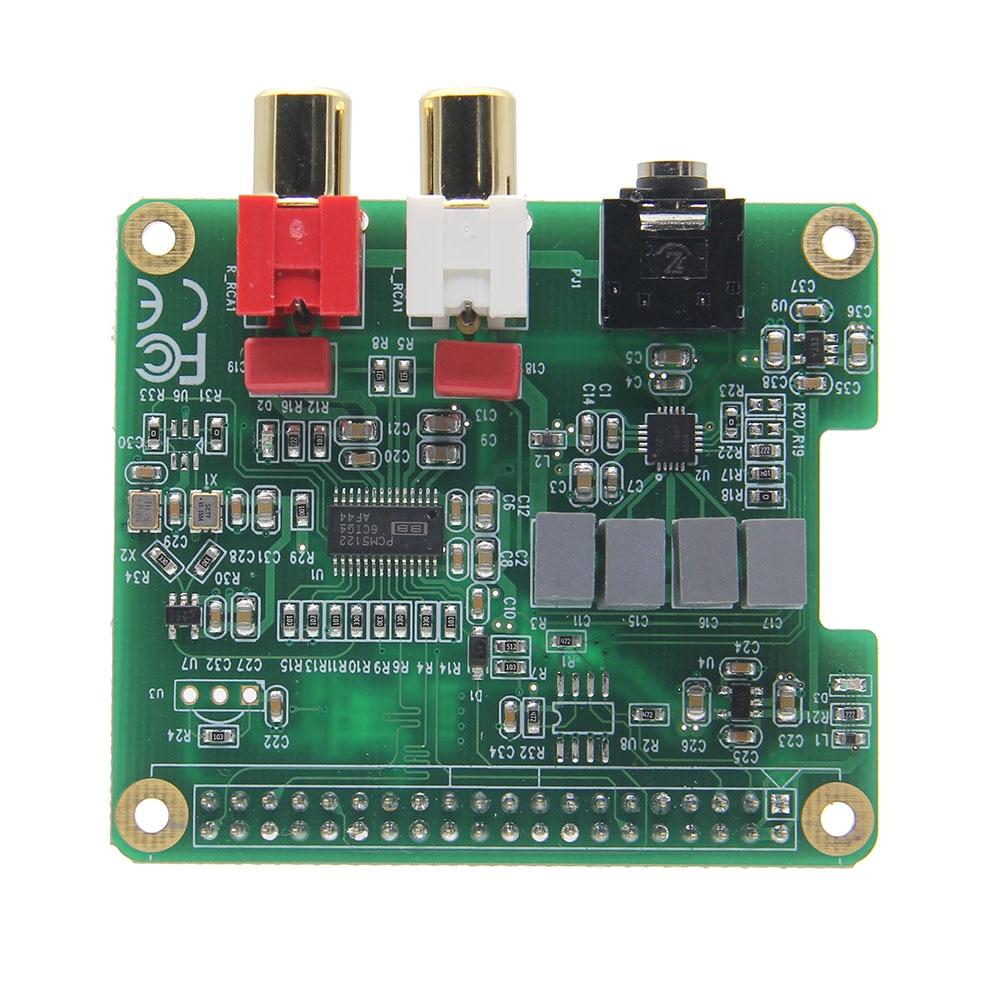 LEORY RPI-HIFI-DAC PCM5122 HIFI DAC Audio Card Expansion Board For Raspberry Pi 3 Model B 2B B