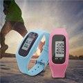 Mais novo LCD Digital Relógio Run Etapa Pedômetro Walking Distance Calorie Counter Relógio de Pulso Multi-função Pulseira Relógio Do Esporte