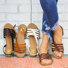 цена на Women Flat Sandals Summer Gladiator Shoes Woman Beach Flat Sandals Rome Style Flip Flop Ladies Casual Slippers Female Shoes P25