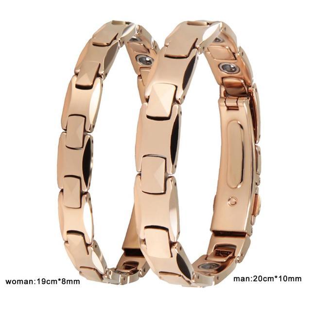 Fashion Jewelry Pure Germanium Tungsten Bracelet Rose Gold Couple Lovers Gift Energy Balance Italian Bracelets & Bangles