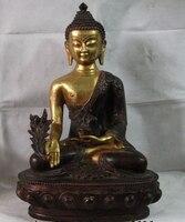 19 inç Tibet Budizm Bakır Bronz Tezhip Tıp Bhaisajyaguru Sakyamuni Buda Heykeli|Statü ve Heykelleri|Ev ve Bahçe -