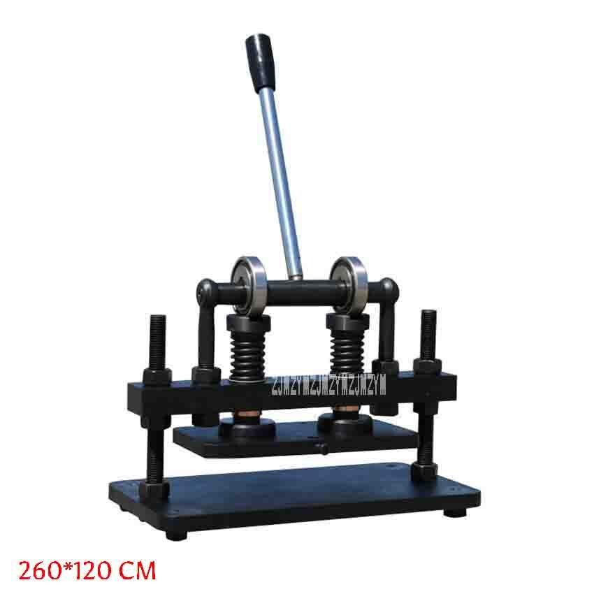 Machine à découper manuelle couteau à poinçonner Machine à emboutir en cuir Machine à découper en relief coupe 26x12cm