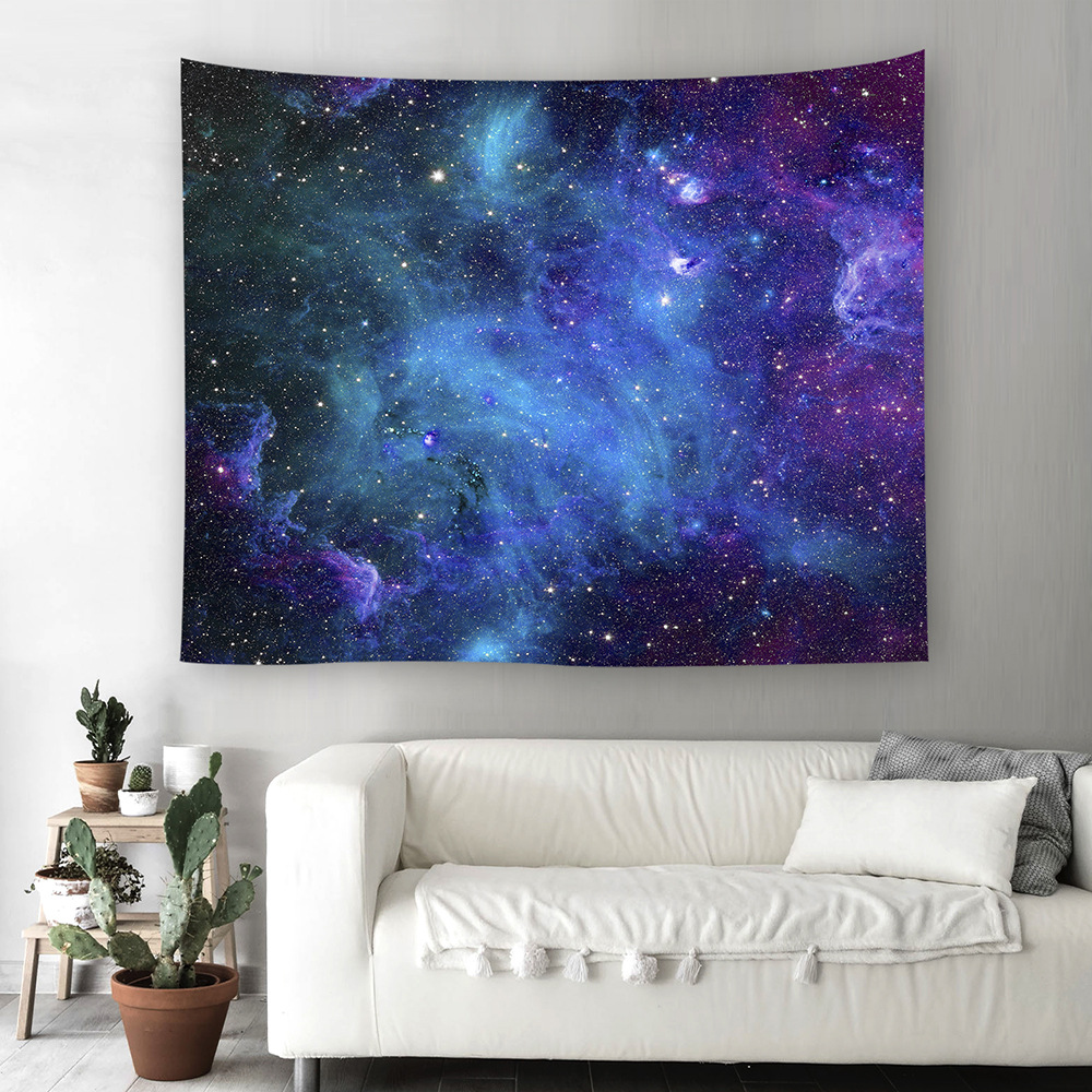 Modern Tapestry Starry Sky tapestry mandalas Wall Hanging 3D Psychedelic Tenture Murale Mandala Blankets tapiz pared 150x130cm