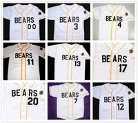 Bad News Bears 12 Tanner Boyle 3 Kelly Leak Baseball Jersey Bail Bonds #4 #7 #11#13 #14 #17 #20 #22 #33 #44 #77 Stitched Numbers