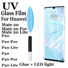 Nano Liquid Full Glue UV glass for Huawei P20 P30 tempered Por Lite Protective