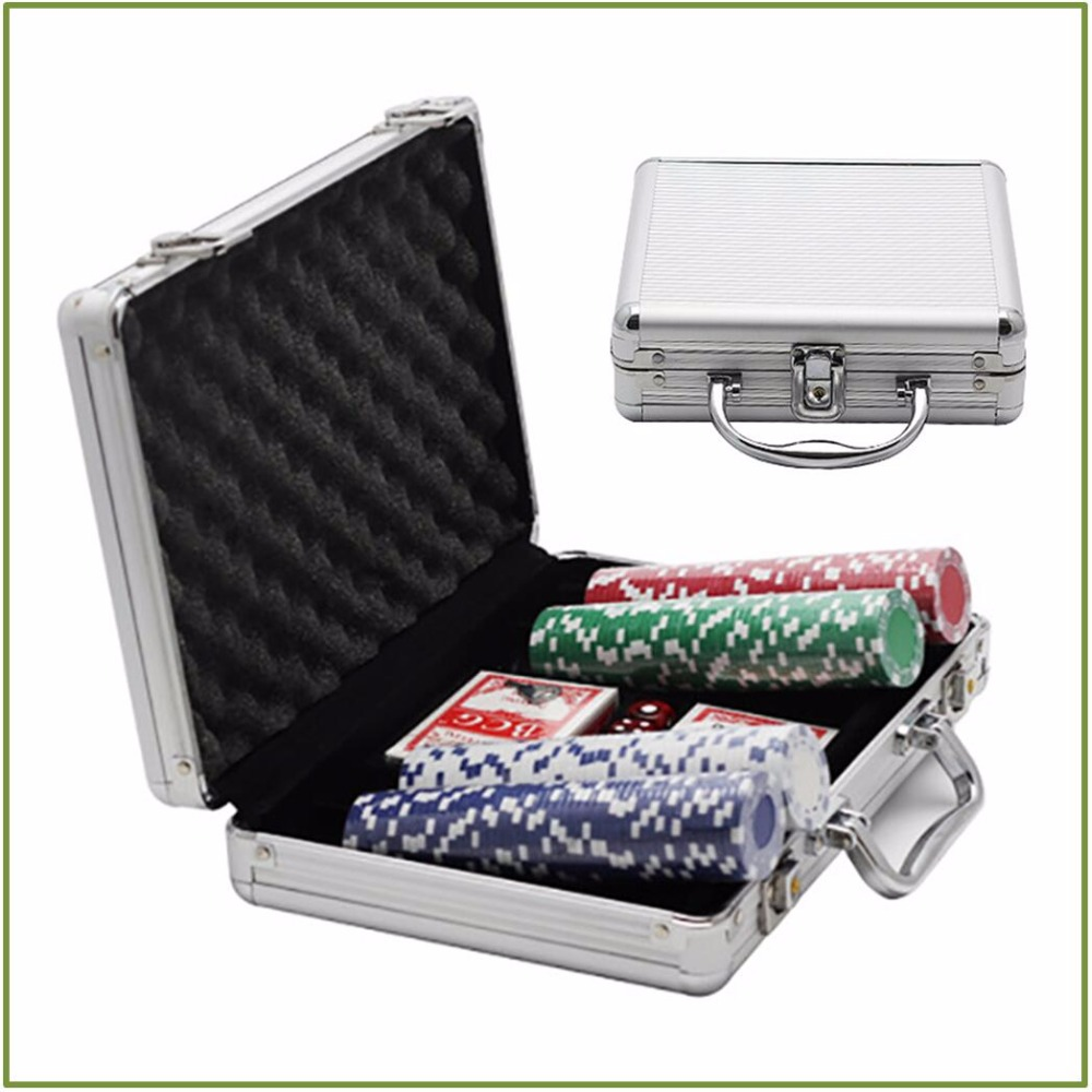 100 Pcs/set Ton Triple Crown Würfel Poker Chips Mit Aluminium legierung Fall Spiel Brettspiel Party Spaß Glücksspiel währung