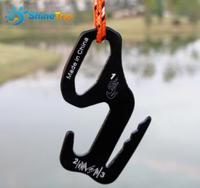 Outdoor Canopy Tent Wind Rope Buckle 9 Shaped Aluminum Alloy Hook Rope Buckle Accessories Luggage Binding Hook Hanging Buckle