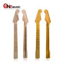 21 лад тигровый клен гитарный ремень на гитару Гриф для ST электрогитары детали для акустической гитары натуральный желтый глянцевый
