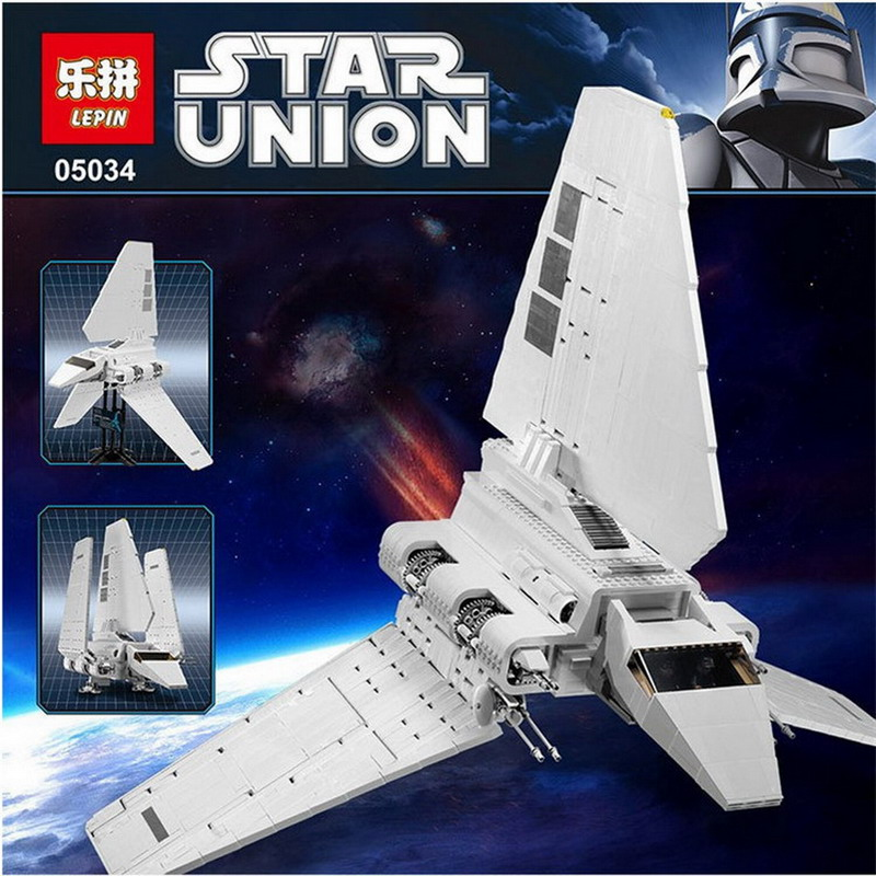 LEPIN 05034 Star Children legoing Wars Stunning The Assemble Shuttle Building Blocks Bricks Compatible with 10212 Christmas Gift new lepin 16009 1151pcs queen anne s revenge pirates of the caribbean building blocks set compatible legoed with 4195 children
