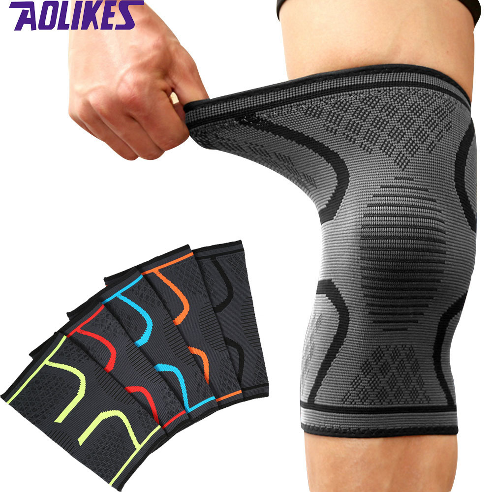 2pcs Knee Support Knee Pads Brace Kneepad Gym Weight Lifting Knee Wraps Bandage Straps Guard Compression Knee Sleeve Brace