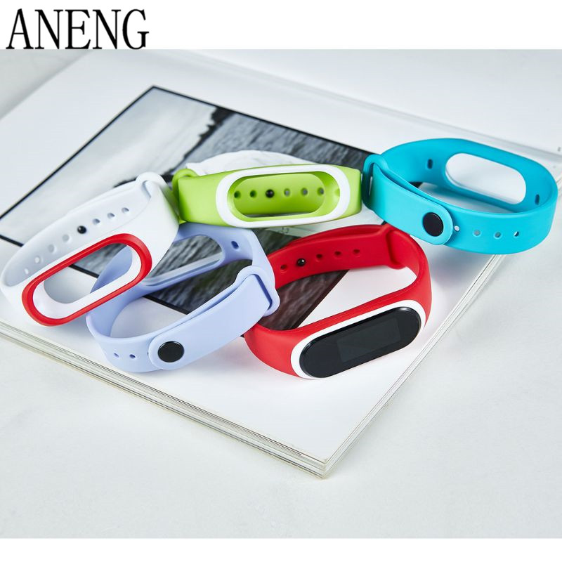 Силиконовые Красочные Браслет спорта ремешок для Xiaomi Эй плюс Smartband