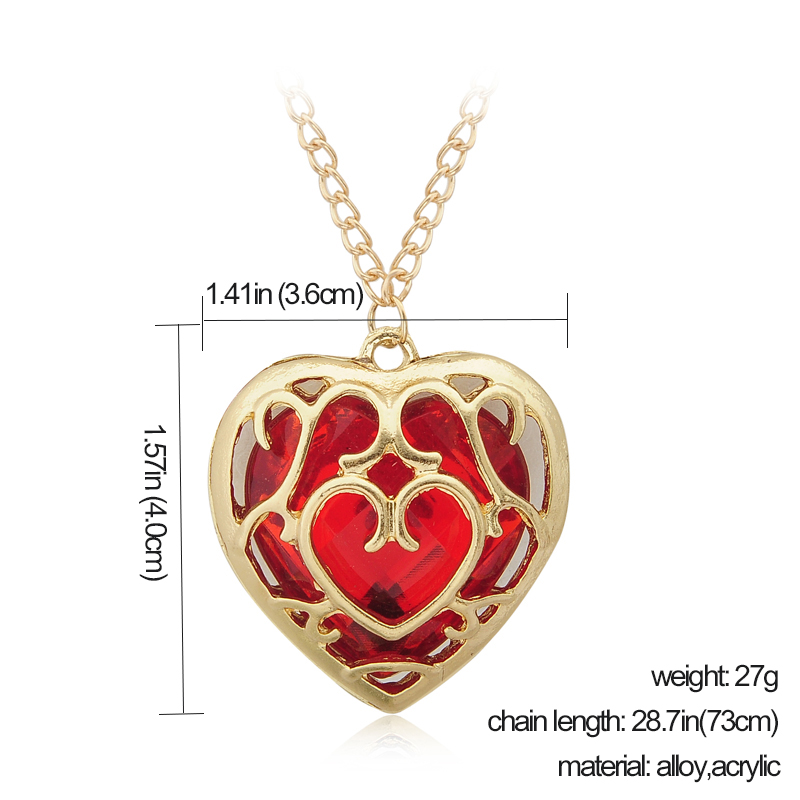 Japanese Anime The Legend of Zelda Figure necklace Red Heart ...