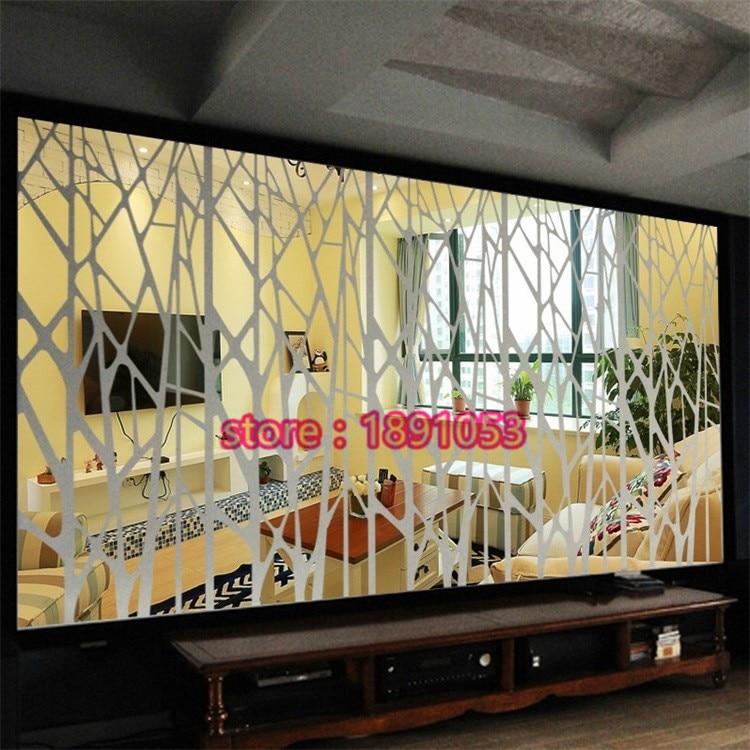 3 Dstereoscopic spiegel acryl wand aufkleber wohnzimmer TV hintergrund restaurant eingang wand kunst spiegel baum dekoration aufkleber