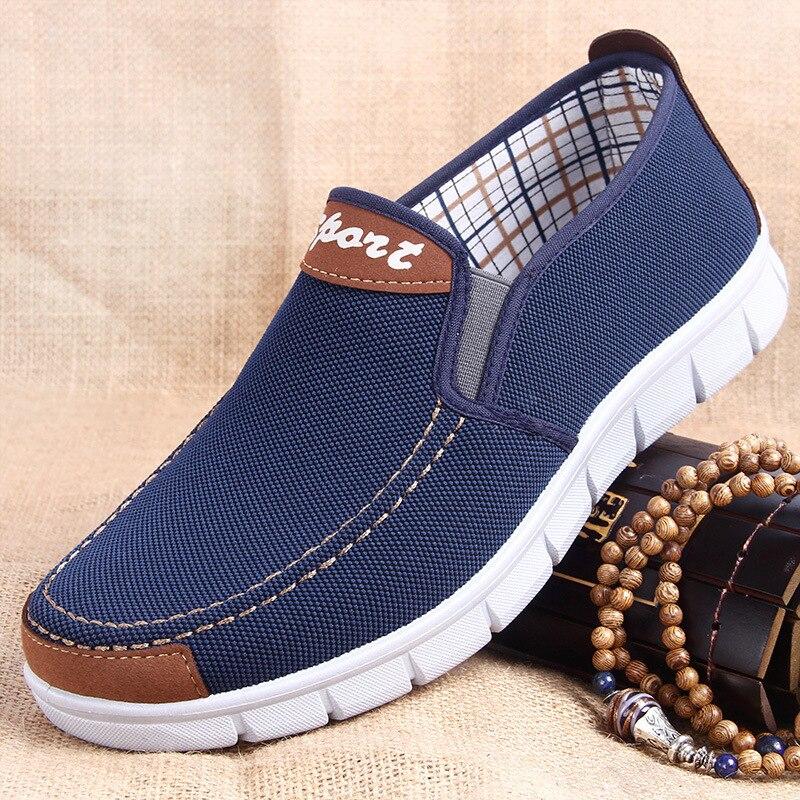 Men Canvas shoes  New Spring Summer Comfortable Canvas Men Casual Shoes Male Flat Loafers Shoes Men black 2019 Сникеры