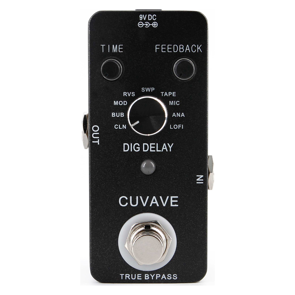 CUVAVE DIG DELAY Guitar Effect Pedal True Bypass with 9 Delay Types Electric Guitar Effects Stompbox