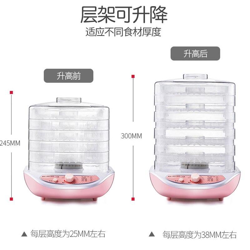 Rose 5 couches électrique intelligent déshydrateur Machine Mini détachable Multi fruits nourriture sèche Pet viande Visible matériel Air séchage outil - 4