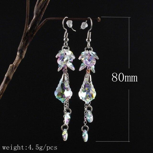 Женские длинные серьги с австрийскими кристаллами модные роскошные