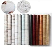 Diseño de madera de vinilo autoadhesivo wallpaper 0.45*10 M Furniutre renovar papel tapiz adhesivo de vinilo material