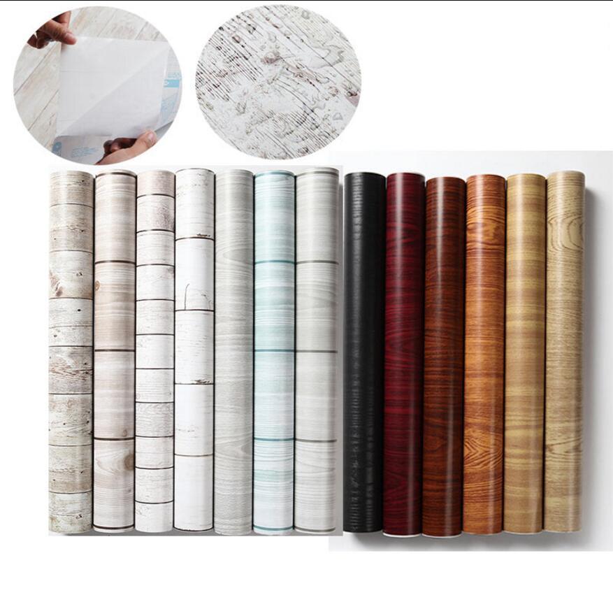 wood design self adhesive vinyl wallpaper 04510M