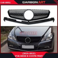 Double Slats Style design replacement ABS Front grill mesh for Mercedes 2010 2013 E CLASS Coupe W207