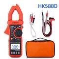 Multimètre True RMS ESR condensateur testeur voltmètre ampèremètre numérique pince mètre avec sac sonde pointe stylo HK588D température|Pinces ampèremétriques|Outils -