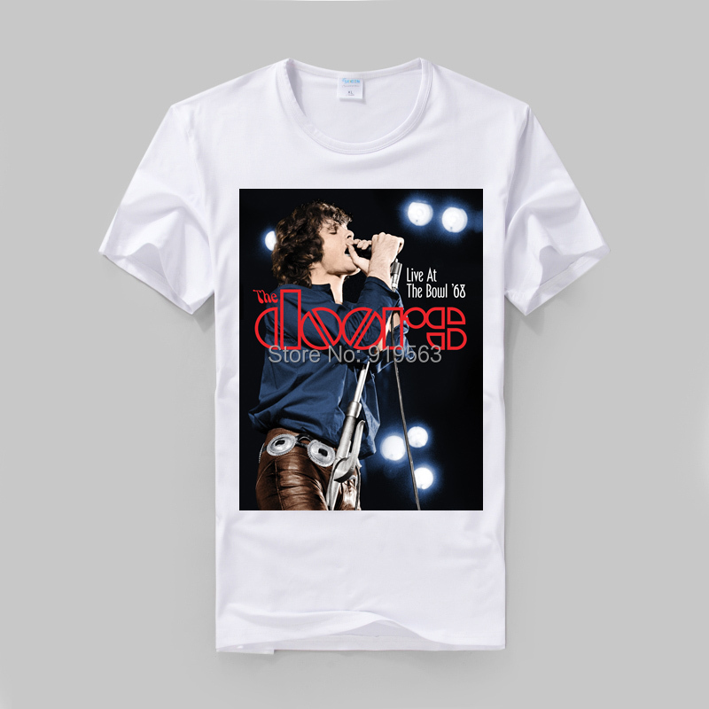 The Doors Jim Morrison Poster HD printing vintage fashion cool t shirt high quality soft modal soft slim style-in T-Shirts from Men\u0027s Clothing \u0026 Accessories ... & The Doors Jim Morrison Poster HD printing vintage fashion cool t ...